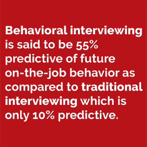 benefits of behavioral interview